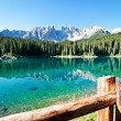 Karerlake in italy - Stock Photo
