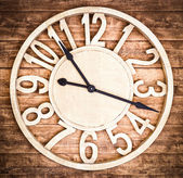 Wooden clock — Foto Stock