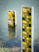 Water level indicators — Stock Photo