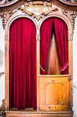 Old confession booth — Stock Photo