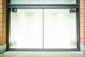 Tomma skyltfönster — Stockfoto