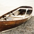 Old wooden rowboat — Stock Photo