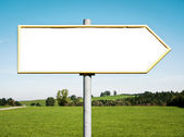 Blank directional sign — Stock Photo