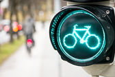 Traffic light for bikes — Stock Photo