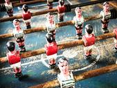 Old table soccer game — Stock Photo