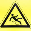 Caution wet floor sign — Stock Photo #18171409