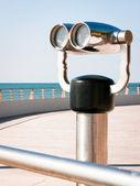 Coin operated binoculars — Stock Photo