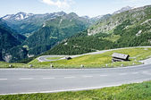 Curve at the alps — Stock Photo
