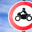 Road closed for motorbikes sign — Stock Photo