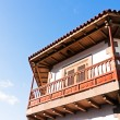 Wooden balcony — Stock Photo