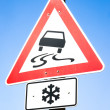Stock Photo: Snow warning sign