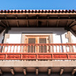 Wooden balcony - Stock Photo