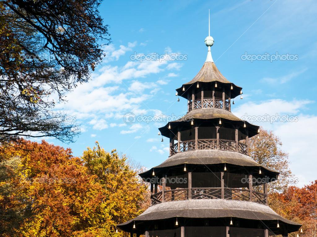 在慕尼黑-德国的著名中国塔