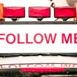 Follow me sign — Stock Photo