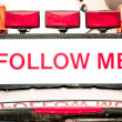 Stock Photo: Follow me sign