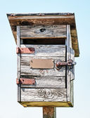 Old wooden letterbox — Stock Photo