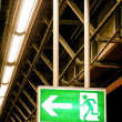 Emergency exit sign — Stock Photo #19318009