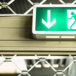 Emergency exit sign — Stock Photo #19318243