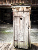 Old outhouse — Foto de Stock