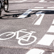 Stock Photo: Bicycle lane