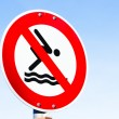 Stok fotoğraf: No swimming sign