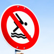 图库照片: No swimming sign
