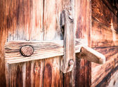 Wooden latch — Stock Photo