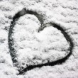 Snow heart — Stock Photo #19609485
