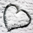 Snow heart - Stockfoto
