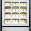 Stock Photo: Modern keypad