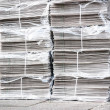 Newspaper stack - Stock Photo