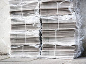 Newspaper stack — Stock Photo