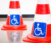 Disabled signs — Stock Photo