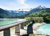 Jezioro sylvenstein — Zdjęcie stockowe