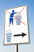 No hay rastros de basura — Foto de Stock