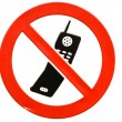 No mobile phones allowed — Stock Photo #20108023