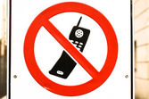 No mobile phones allowed — Stock Photo
