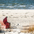 Hooded beach chair  — Stock Photo