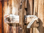 Wooden latch — Stock Photo