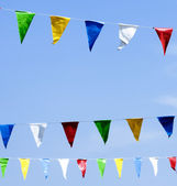 Colorful pennants — Stock Photo