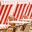 Royalty-Free Stock Photo: Hooded beach chairs