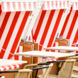 Hooded beach chairs — Stock Photo #20861023
