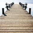 Old wooden jetty - Stock Photo