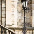Stock Photo: Stairs and streetlamp