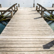 Old wooden jetty — Stock Photo