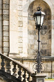 Stairs and streetlamp — Stock Photo