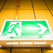 Emergency exit sign — Stock Photo #21227933