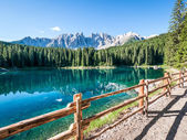 Karerlake in italy — Stock Photo