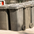 Modern garbage bins — Stock Photo