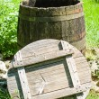 Stockfoto: Old wooden wine cask